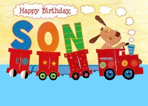 Stupendous Top 60 Birthday Wishes For Son Wishesgreeting Personalised Birthday Cards Veneteletsinfo
