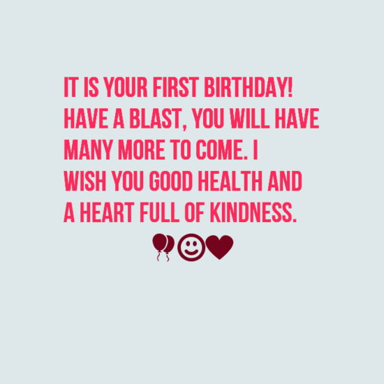 35+ Happy First Birthday Wishes