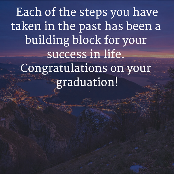 words to congratulate a graduate