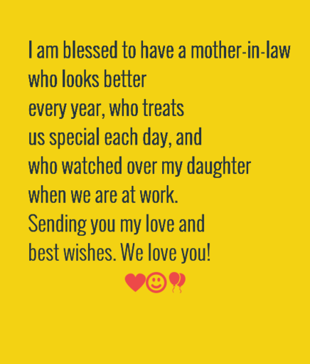 The 105 happy birthday mother in law quotes wishesgreeting we are excited to visit you on your birthday i want to taste your special pasta recipe hope you cook a lot for my big tummy best bday mother m4hsunfo