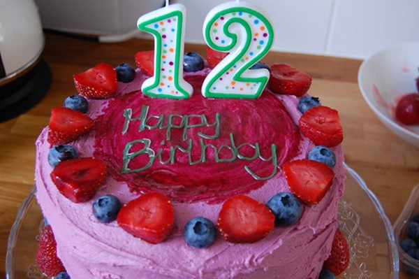 Happy 12th Birthday Cake Images