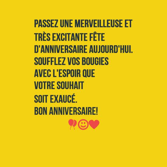 sur votre anniversaire birthday wishes in french