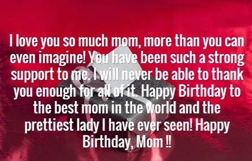 Happy Birthday Quotes For Mom Pleasing The 105 Happy Birthday Mom Quotes  Wishesgreeting