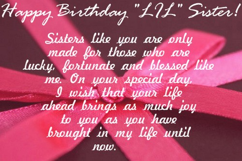 Happy Birthday I Love You Wishes Little Sister Quotes7