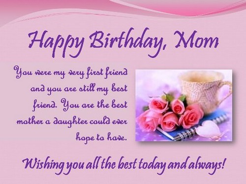 Happy Birthday Quotes For Mom Alluring The 85 Loving Happy Birthday Mom From Daughter  Wishesgreeting
