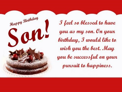 Remarkable The 85 Happy Birthday Son From Mom Wishesgreeting Personalised Birthday Cards Beptaeletsinfo