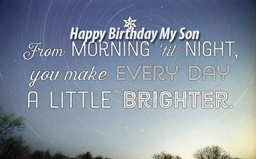 The 85 Happy Birthday Son from Mom | WishesGreeting