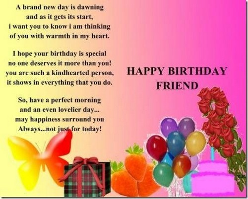 Wonderful Bday Birthday Wishes For A Good Friend1