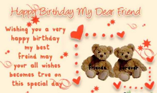 Birthday Wishes For Best Friend Girl Images ~ Happy birthday dear friend wishesgreeting