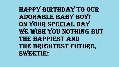 30 Happy Birthday Baby Boy Wishes And Messages Wishesgreeting