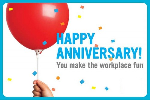 happy anniversary message to employee
