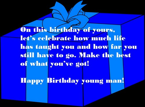 Happy Birthday To A Young Boy