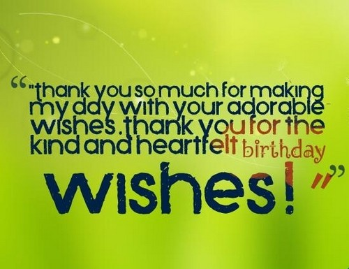 Reply to Birthday Wishes With Thank You Quotes and Messages – Thank You for the Birthday Greeting