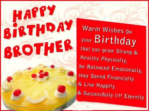 60 Cute Birthday Sms For Brother Wishesgreeting Happy Birthday Wishes To Sms