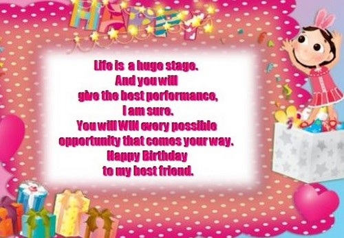 Short Birthday SMS for Friend | WishesGreeting