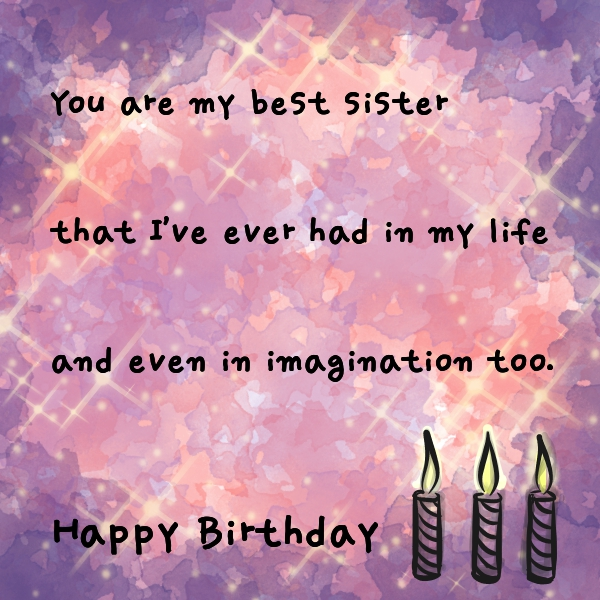 Birthday Wishes For Sister 64