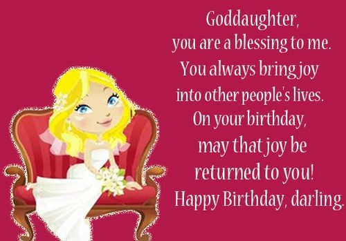 85 Happy Birthday To Goddaughter From the Heart – Goddaughter Birthday Cards