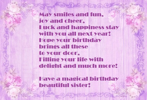 55 Happy Birthday To My Beautiful Sister Wishesgreeting