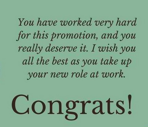 Congratulations Quotes New Job Position: Congratulations On Promotion Message