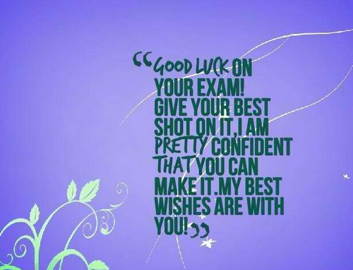 Good Luck On Your Test Messages Wishesgreeting
