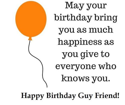 35+ Happy Birthday Guy Friend Wishes
