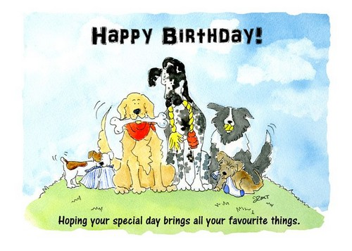 Happy Birthday Ecard Dog Lover Wishes For A Wishesgreeting