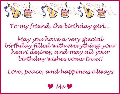 Birthday Wishes For Best Female Friend1