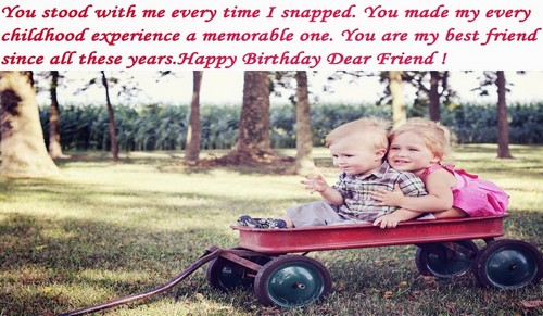 Birthday Wishes For Childhood Friend Wishesgreeting