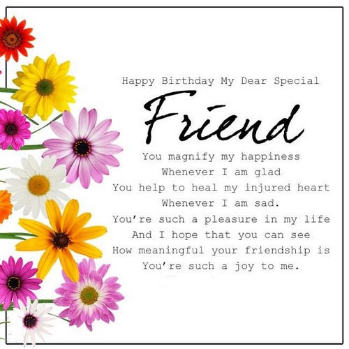 Happy Birthday Quotes Best Friend Girl: 40 Birthday Wishes For Special Friend