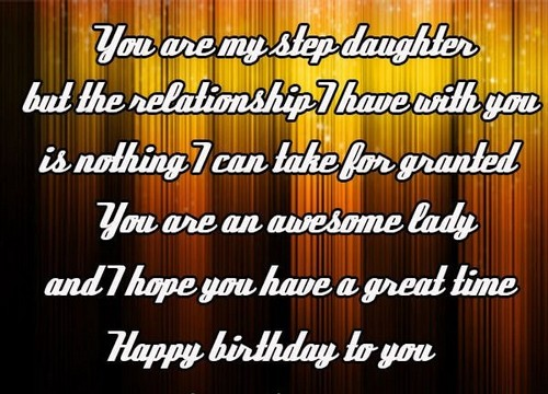 Birthday Wishes For Step Daughter | WishesGreeting