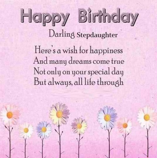 Birthday Wishes For Step Daughter Wishesgreeting