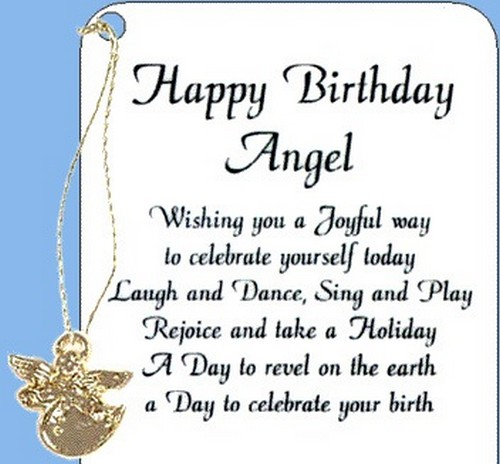 40 Happy Birthday Angel Wishes Wishesgreeting