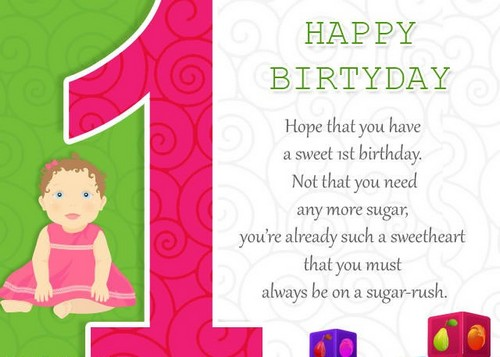 Happy Birthday Ecard For Baby Quotes Girl Wishesgreeting