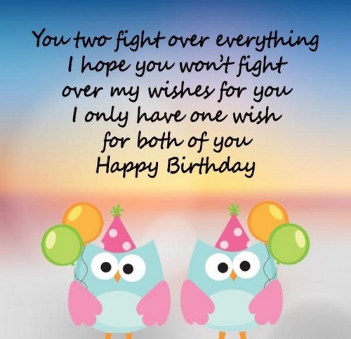 40 Happy Birthday Twins Wishes And Quotes Wishesgreeting