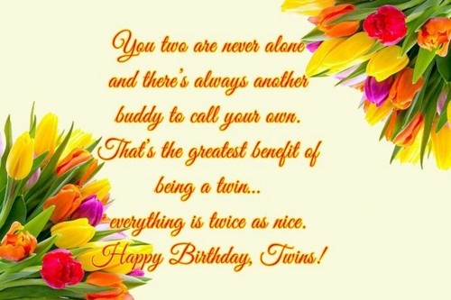 Birthday Wishes Male Cousin ~ 40 happy birthday twins wishes and quotes wishesgreeting