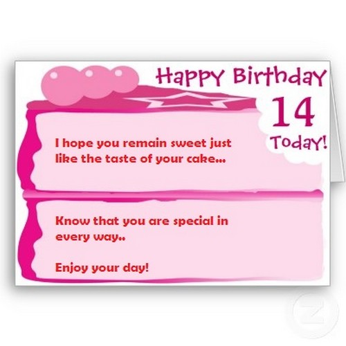 Happy 14th Birthday Quotes | WishesGreeting