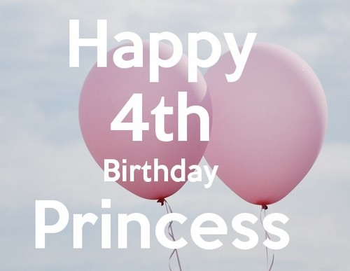 Happy 4th Birthday Princess Quotes Wishesgreeting