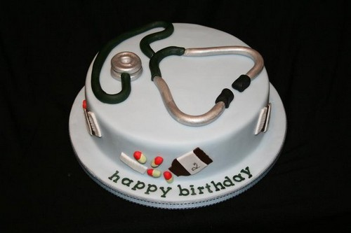 Birthday Cake For A Female Doctor
