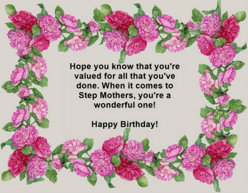 34 Birthday Wishes for Step Mom | WishesGreeting