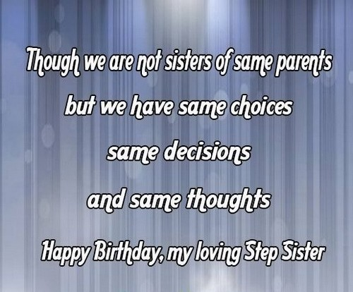 40 Birthday Wishes for Step Sister | WishesGreeting