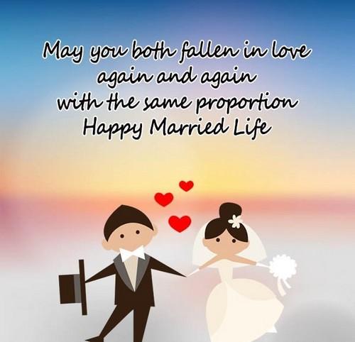 Happy married life wishes 40 happy married life wishes wishesgreeting m4hsunfo