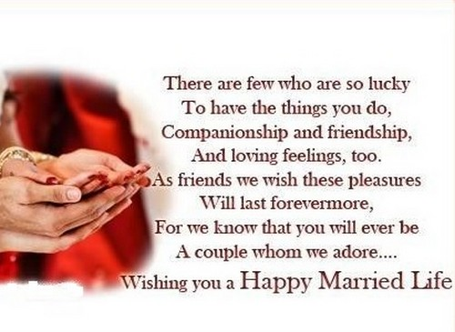 40 Happy Married Life Wishes Wishesgreeting