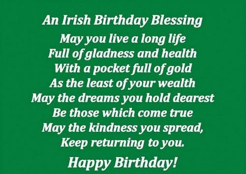 35 Irish Birthday Wishes