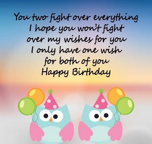 Birthday Wishes For Twin Sisters Wishesgreeting