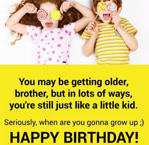 Happy Birthday Crazy Brother Wishes Wishesgreeting