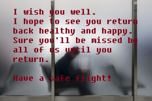 How to wish someone a safe flight