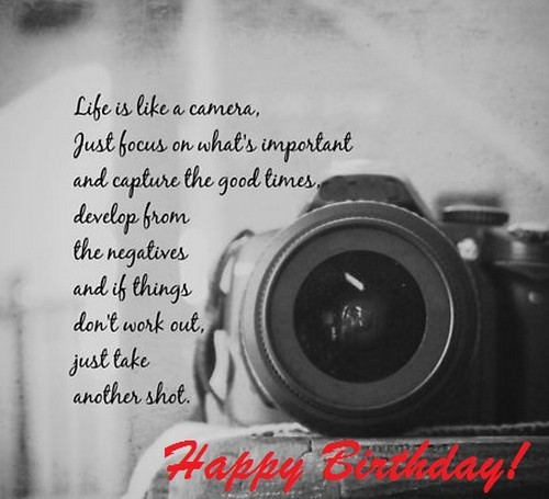 Top 30 Happy Birthday Photographer Quotes