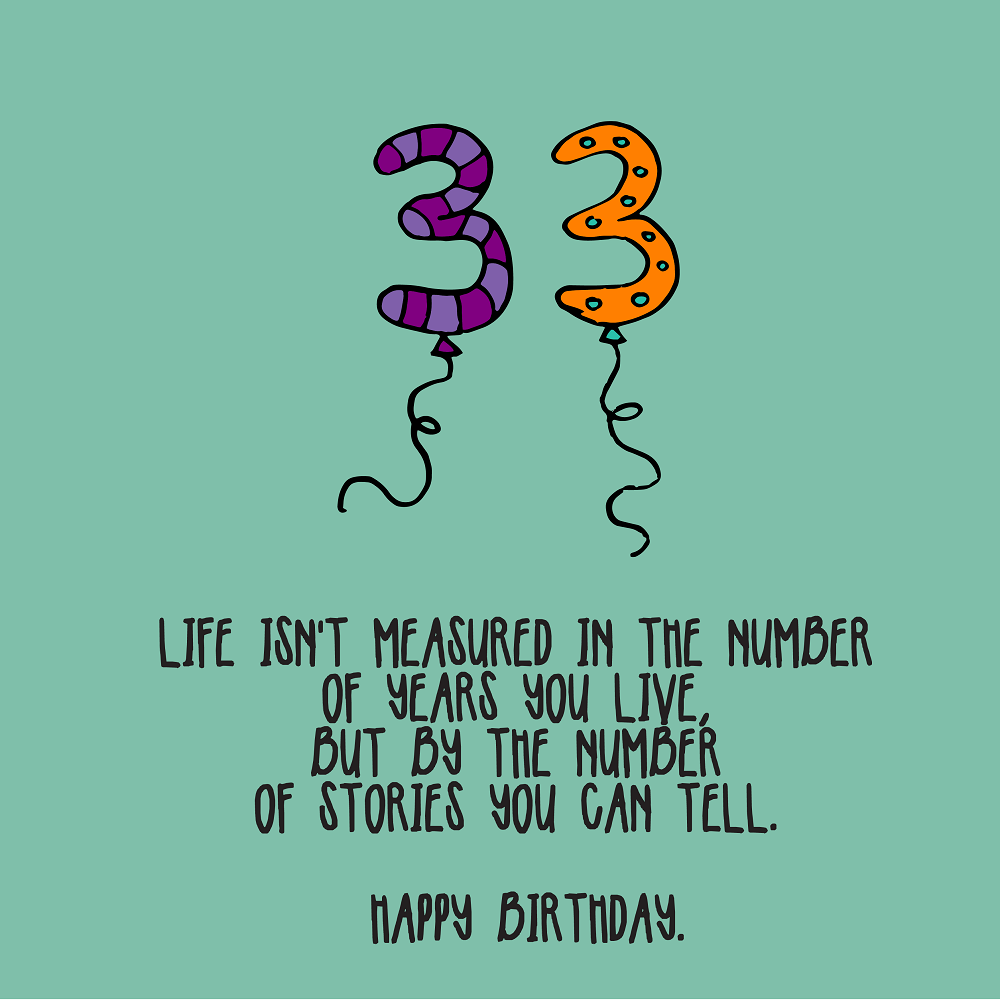 33rd Birthday Quotes 01