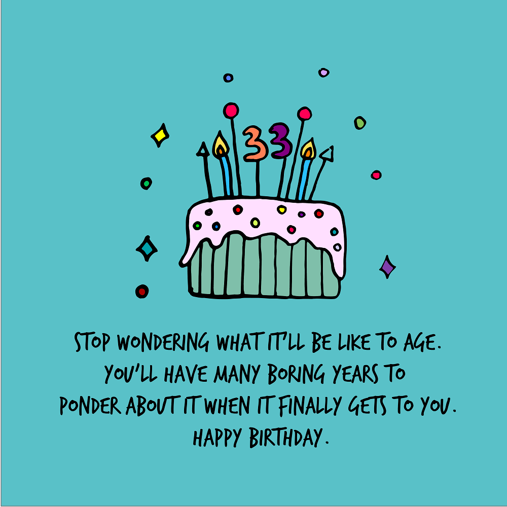 33rd Birthday Quotes | WishesGreeting